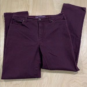 Gloria Vanderbilt Women's Amanda Purple Jeans 12